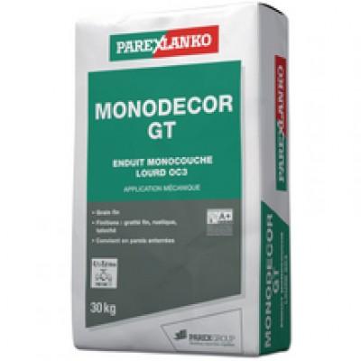 Enduit monocouche lourd grain fin MONODECOR GT G00 blanc naturel pour bâti neuf sac 30kg PAREXLANKO