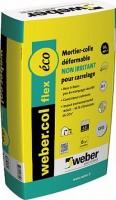 Mortier-colle pour carrelage FLEX ECO WEBER.COL blanc sac 25kg WEBER