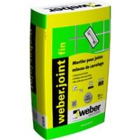 Mortier pour joint mince de carrelage Weber.joint fin gris ciment 10