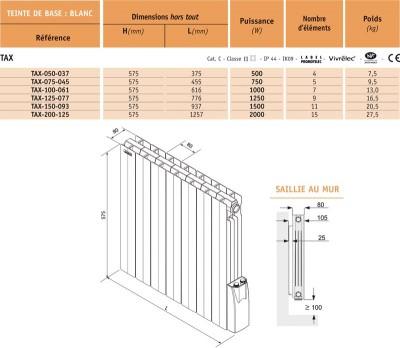 radiateur atoll lectrique 2000w acova chamb ry 73091 d stockage habitat. Black Bedroom Furniture Sets. Home Design Ideas