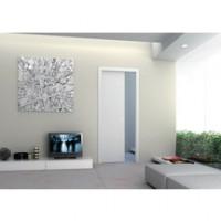 Porte coulissante bois alvéolaire prépeinte ISOPLANE type A 830x2040mm épaisseur 4cm ECLISSE