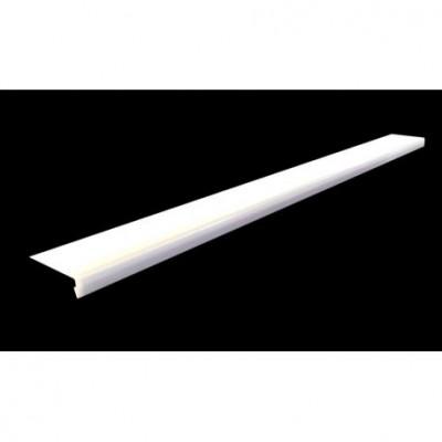 Bavette aluminium blanc 9010 110x30 longueur 250