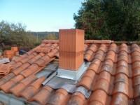 Abergement de cheminée pour boisseau plissé naturel 1mm 50x30 LAHERA