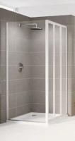 Paroi de douche fixe RIVIERA verre granité blanc hauteur 185cm largeur 780-820mm