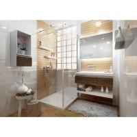 Paroi de douche fixe complémentaire ANCOCOMBI hauteur 200cm largeur 45cm verre transparent 6mm