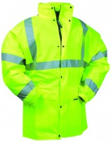 Veste de pluie polyuréthane jaune fluo MATEA EN471 taille L