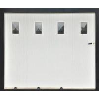 Porte de garage coulissante (03) PVC avec hublots gauche 200x240cm