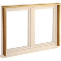 Tapée de fenêtre épaisseur 55mm pin blanc L.247cm