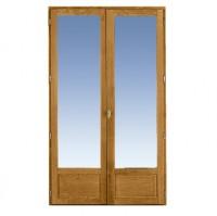 Porte-fenêtre 2 vantaux CLASSIC/ODE chêne foncé 4,5x150x205cm