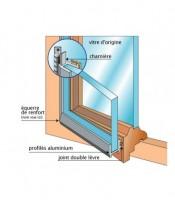 Kit revitrage fenêtre aluminium (11) notice/équerre/vis 1x18x30cm