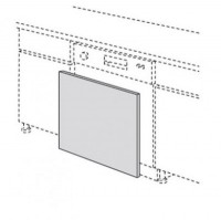 Porte ECORCE cendré 69.7x59.7cm