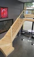 Escalier quart ZERO PRIMO sapin sans contremarche non monté gauche
