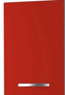 Meuble haut 1 porte easy rouge carmin largeur 40cm