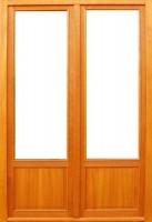 Cadre seul (5x2) pin lasure porte-fenêtre 2 vantaux 215x140cm