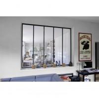 Verrière d'atelier acier noir 9005S hauteur 150x100cm