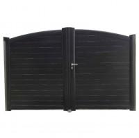 Vantail RIALTO aluminium gris sans accessoire 175x150 serrure