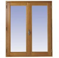 Fenêtre 2 vantaux CLASSIC/ODE Chêne foncé 140x120cm