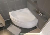 Baignoire d'angle VERSEAU 3 acrylique blanc 135x135cm