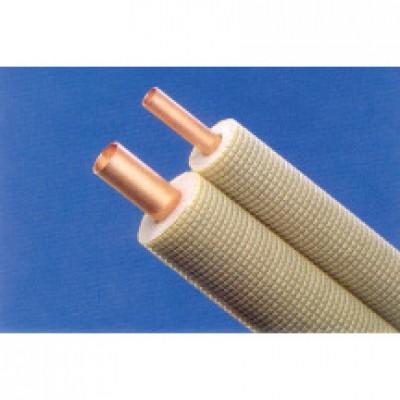 Liaison frigorifique pré-isolée double tube cuivre 1/4-3/8 20m MC DISTRIBUTION