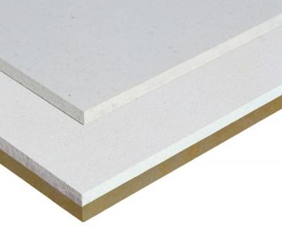 Plaque de fibres-gypse pour sol fermacell sol + isolant laine minérale - 1,5x0,5 m - ép. 30 mm - FERMACELL