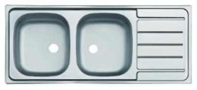 Eviers à encastrer inox 116 sans vidage MODERNA