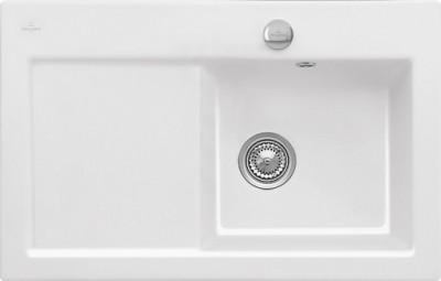 Evier SUBWAY blanc 1 bac 1 égouttoir 100x51cm VILLEROY & BOCH