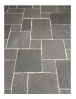 Bordure calcaire TANDUR gris bords éclatés vieillis 50x10x6cm