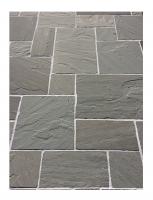Bordure grès gris naturelle bords éclatés 100x20x8cm