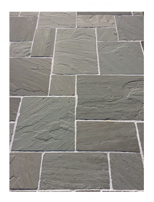 Bordure grès gris naturelle bords éclatés 100x35x15cm