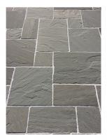 Pierre Naturelle Palissade grès gris naturelle bords éclatés 150x50x3/5cm