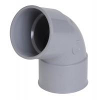 Coude 67°30 PVC femelle-femelle gris diamètre 40mm NICOLL