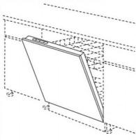 Porte TWIST cannelle 124.7x39.7cm