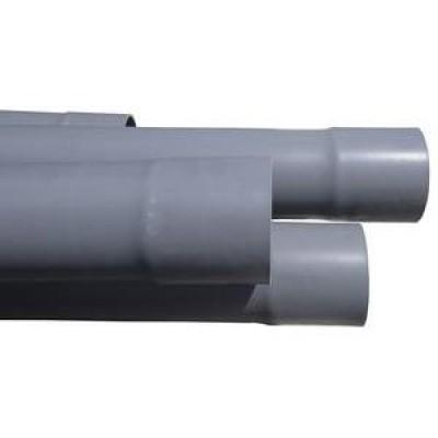 Tube PVC évacuation à usage divers gris diamètre 90mm