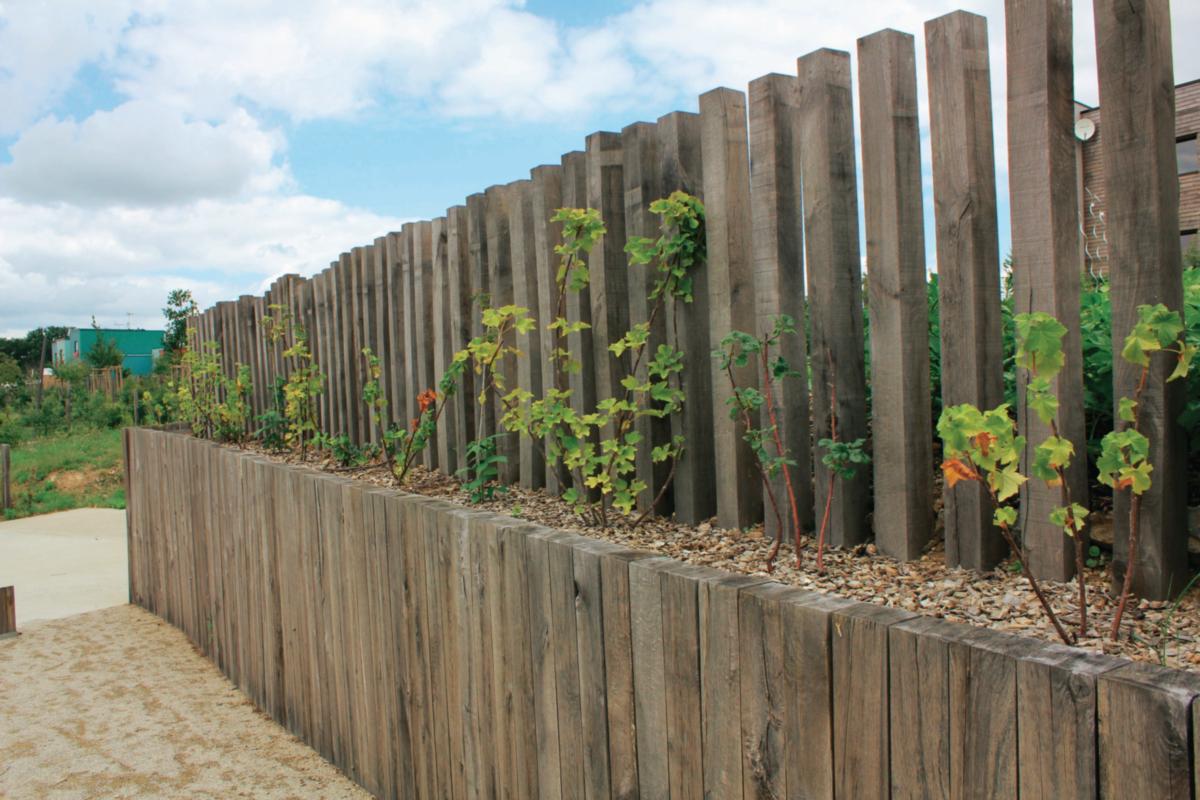 Bois Pour Exterieur Classe 4 traverse paysagère chêne traité classe 4 - 120x200x2600mm - france bois  imprégnés