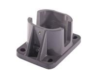 Platine aluminium gris anthracite 70x70mm