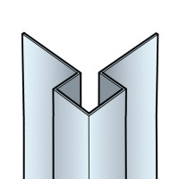 Profil d'angle extérieur Cédral Click aluminium argent C51 AS2 3000mm