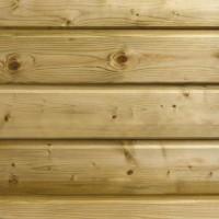 Bardage MONTANA sapin du Nord blanc traité classe 3 raboté vert colis de 5 soit  3.366m2 21x132x5100mm