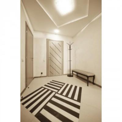Bloc-porte alvéolaire gravée OBLIK prépeint 830 poussant droit huisserie créaconfort 88x57 rive droite pêne dormant démi-tour