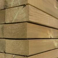 Bois d'extérieur pin du Nord rouge raboté traitement classe 4 vert 70x145x4500mm