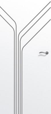 Bloc-porte gravé isolant PREMATHERM Niagara gauche poussant huisserie créaconfort 67x57 rive droite 3 points 830mm