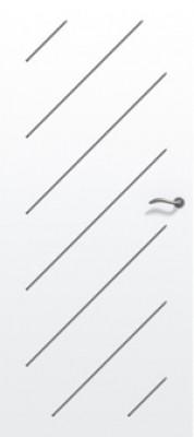 Bloc-porte gravé isolant PREMATHERM Oblik prépeint gauche poussant huisserie créaconfort 67x57 rive droite 3 points 830mm