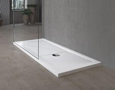 Receveur de douche olympic blanc hauteur 12 5cm 140x80cm novellini valence 26904 - Cloison de douche ...