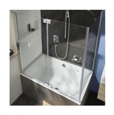 pare baignoire d 39 angle capsule 140x90cm jacob delafon. Black Bedroom Furniture Sets. Home Design Ideas