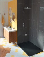 Receveur KINESURF+ noir 120x90cm épaisseur 4cm