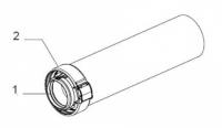 Rallonge blanc 80/125 0,5m