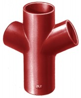 Embranchement Culotte double SMU S rouge 68° en fonte diamètre nominal 200-150mm PONT A MOUSSON