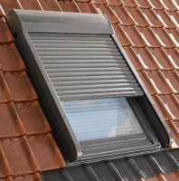 Volet roulant électrique SML pour fenêtre de toit CK02 55x78 cm - aluminium - gris anthracite