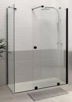 Paroi de douche coulissante PUREDAY verre noir 120cm droite
