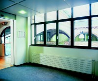 Radiateur FASSANE blanc horizontal double eau chaude 55x1400x518mm  ACOVA