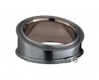 Elément coudé à 15° inox-inox, diamètre 150mm
